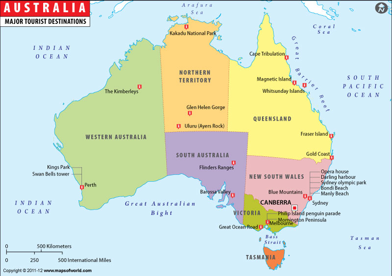 Map Of Australia With States